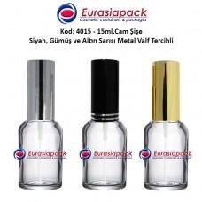 Alüminyum Spreyli Cam Parfüm Şişesi Kod: 4015 - 15ml.
