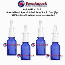 Burun Spreyli Kobalt Mavi Cam Şişe 10ml Kod: 4010