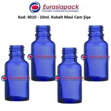 Cam İlaç - Ecza Şişesi 10ml. Kobalt Mavi Kod 4010