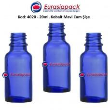 Cam İlaç - Ecza Şişesi 20ml. Kobalt Mavi Kod 4020