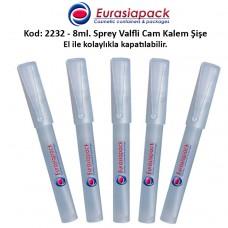 8ml. Buzlu Cam Kalem Parfüm Şişesi