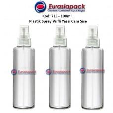 Plastik Spreyli Cam Parfüm ve Kolonya Şişesi 100ml Kod: 710