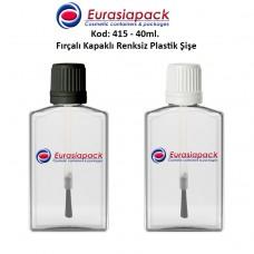 Fırçalı Kapaklı Plastik Şişe Kod: 415 - 40ml.