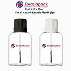 Fırçalı Kapaklı Plastik Şişe Kod: 416 - 50ml.