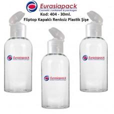 Fliptop Kapaklı Plastik Şişe 25/30ml Kod 404