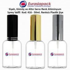 Sprey Valfli Plastik Şişe 50ml Alüminyum Spreyli Kod 416